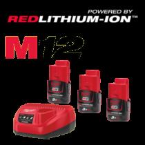 M12 Power Csomag 3 db 3Ah Akkumulátorral
