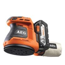 AEG excentercsiszoló, 2×4.0 akkumulátor, töltő   BEX 18-125LI-402C (4935451087)