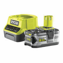 Ryobi 18 V töltő+1x5,0 Ah lítium-ion akkumulátor | RC18120-150 (5133003366)