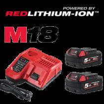 Milwaukee Erőcsomag HC M18 2db 5Ah Akkumulátorral HC.