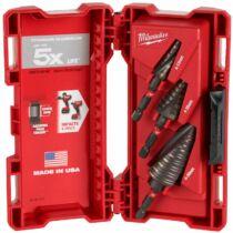 Milwaukee 3 darabos shockwave impact duty lépcsős fúró készlet l 48899266