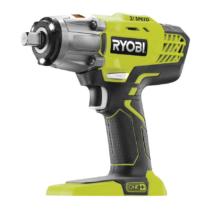 """Ryobi 18 V három sebességes 1/2"""" dugókulcsos ütvecsavarozó, 1/4˝ hex adapter, akkumulátor és töltő nélkül   R18IW3-0 (5133002436)"""