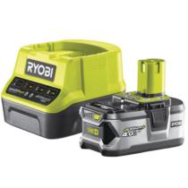 Ryobi 18 V töltő+1x4,0 Ah lítium-ion akkumulátor | RC18120-140 (5133003360)