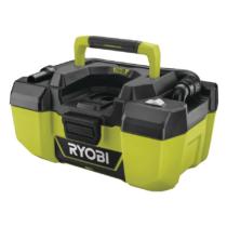 Ryobi 18 V projekt porszívó, 1500 l/perc, tartozékok tárolása a gép felületén, akkumulátor és töltő nélkül | R18PV-0 (5133003786)