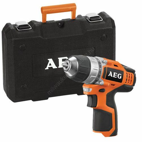 AEG akkumulátoros fúró-csavarozó, akku és töltő nélkül, kofferben szállítva | BS 12 C2-0