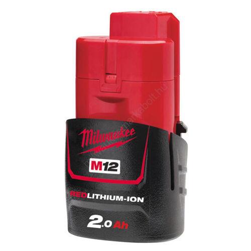 Milwaukee M12, 2.0 Ah akkumulátor   4932430064