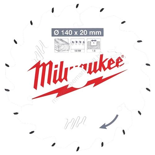 Milwaukee körfűrészlap kézi körfűrészekhez CSB P W 140 x 20 x 1,6 x 18ATB | (4932471310)