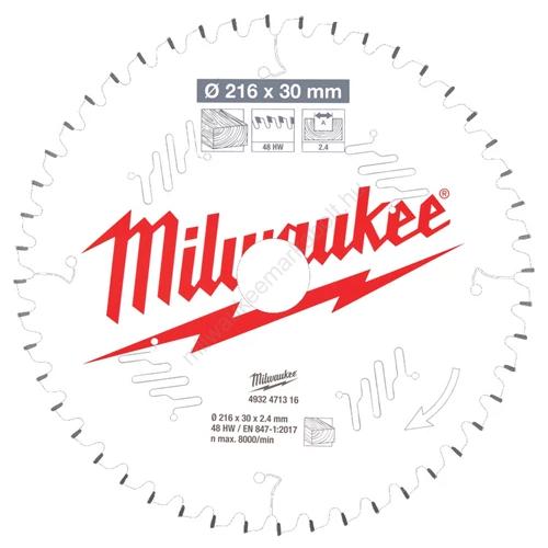 Milwaukee körfűrészlap gérvágókhoz CSB MS W 216 x 30 x 2,4 x 48ATB neg.| (4932471316)