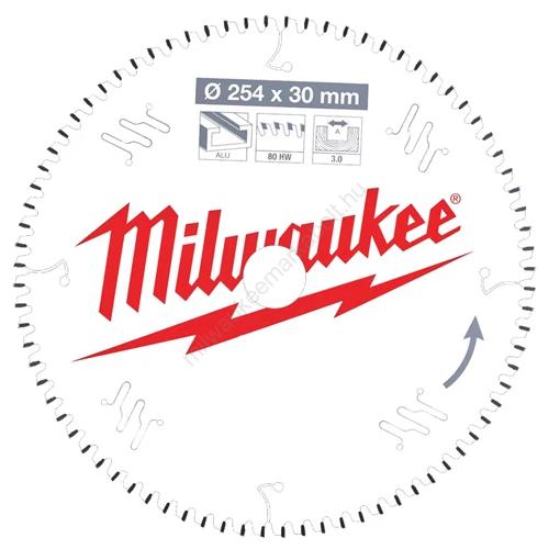 Milwaukee körfűrészlap gérvágókhoz CSB MS Alu254 x 30 x 3,0 x 80TF neg. | (4932471318)