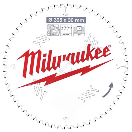 Milwaukee körfűrészlap gérvágókhoz CSB MS W 305 x 30 x 3,0 x 60ATB neg. | (4932471321)