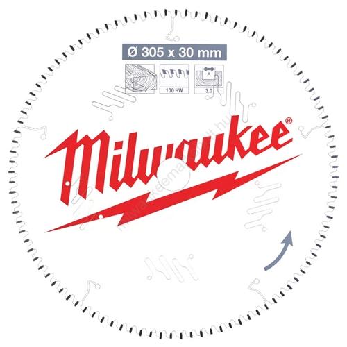 Milwaukee körfűrészlap gérvágókhoz CSB MS W 305 x 30 x 3,0 x 100ATB neg.   (4932471322)
