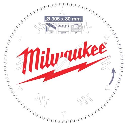 Milwaukee körfűrészlap gérvágókhoz CSB MS Alu305 x 30 x 3,0 x 96TF neg.   (4932471323)