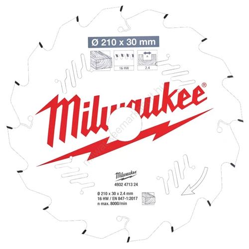 Milwaukee körfűrészlap asztali körfűrészekhez CSB P W 210 x 30 x 2.4 x 16ATB | (4932471324)