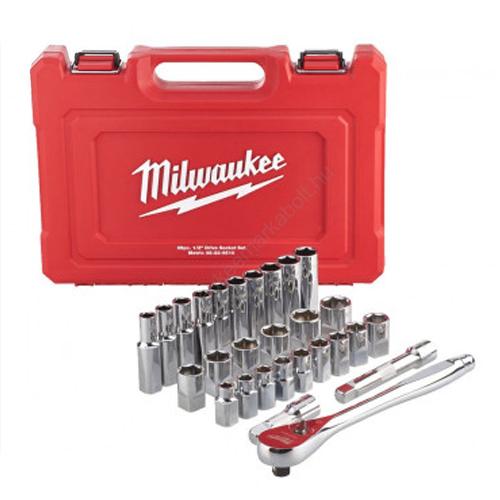 Milwaukee 1/2˝ racsni és dugókulcs készlet (28 részes) | 4932471864