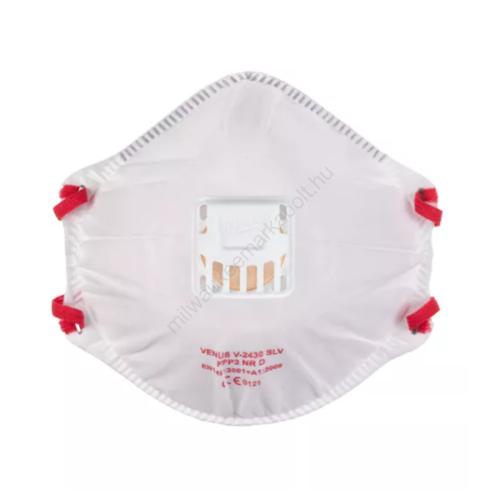 Milwaukee FFP3 szelepes légzésvédő maszk, csésze alakú, 10 db/doboz   4932471906