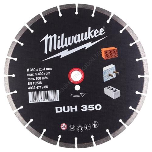 Milwaukee DUH gyémánt vágókorong 350 mm | (4932471986)
