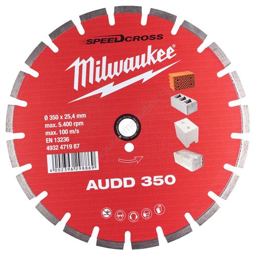 Milwaukee AUDD gyémánt vágókorong 350 mm   (4932471987)