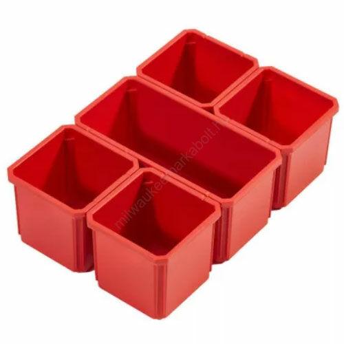 Milwaukee kivehető tároló dobozok packout rendszerezőhöz, 5 részes | (4932478300)