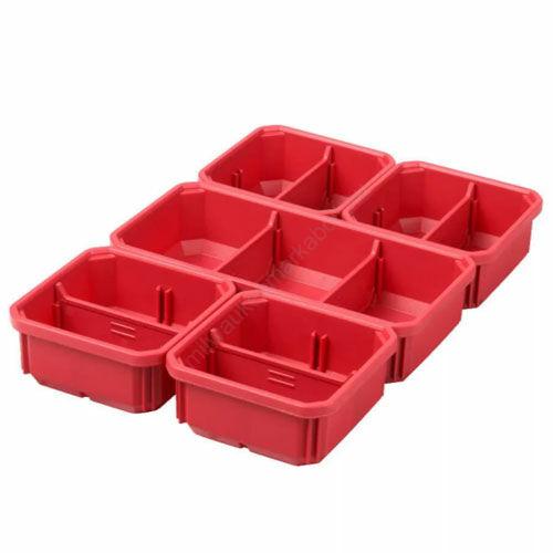 Milwaukee kivehető tároló dobozok, 5 részes, packout keskeny rendszerezőhöz   (4932478301)
