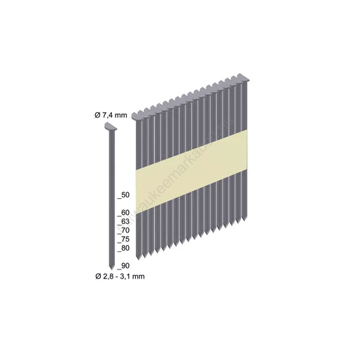 Milwaukee szeg, 7.4 × 2.8 / 50 mm | RS-P4000 (4932478396)