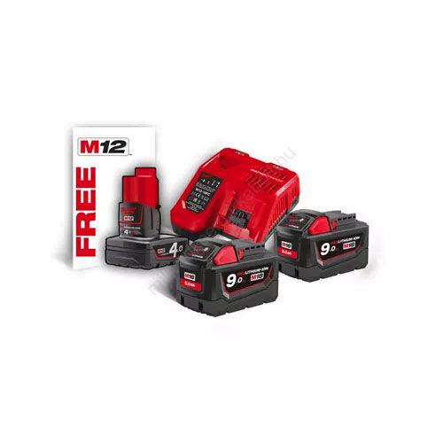 Milwaukee M18 akkumulátor és töltő szett | (4933451422)