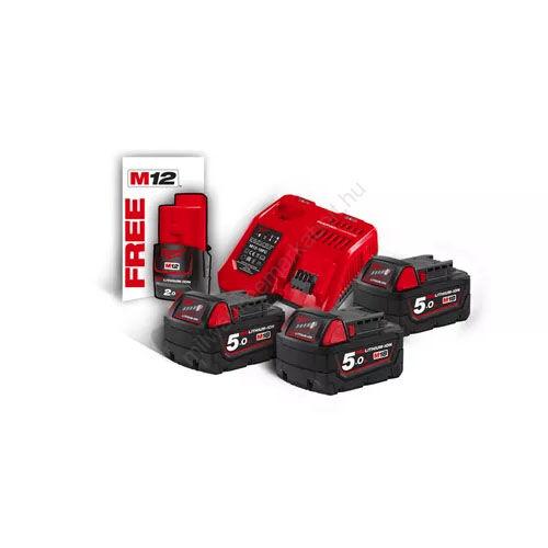 Milwaukee M18 akkumulátor és töltő szett | NRG-503 (4933451423)