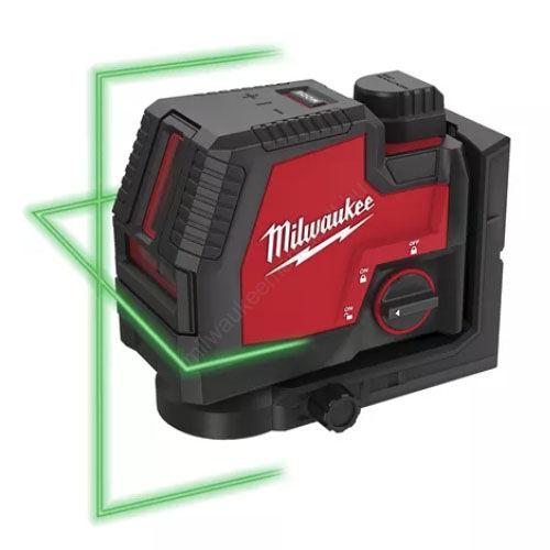 Milwaukee USB újratölthető züld keresztvonalas lézer | L4 CLL-301C (4933478098)