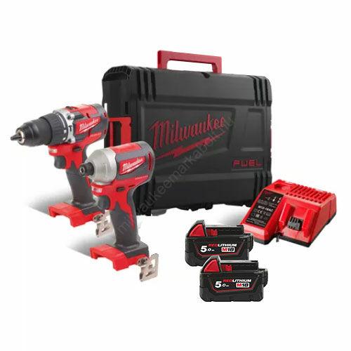 Milwaukee M18™ kompakt szénkefe nélküli erőcsomag | M18 CBLPP2A-502C (4933478545)