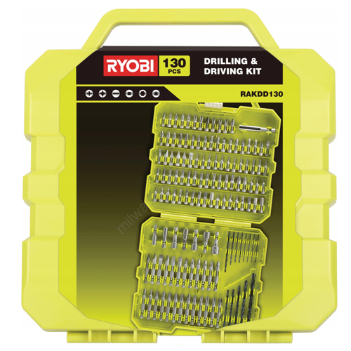 Ryobi Fúró- és bit - 130 darab | RAKDD130 (5132004155)