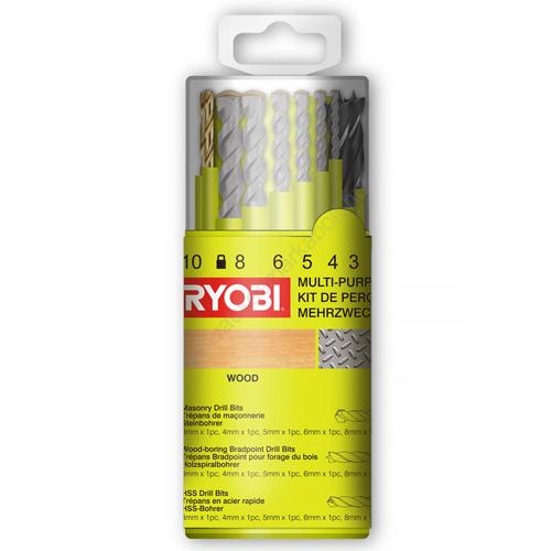 Ryobi 18 darabos fúrószár   RAK18DMIX (5132004669)