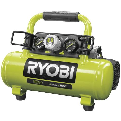 Ryobi 18 V kompresszor, 8 bar, 4 L | R18AC-0 (5133004540)