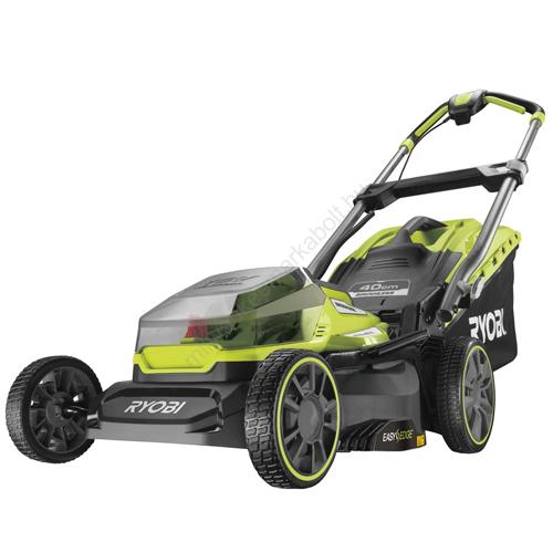 Ryobi 18 V One Plus™ szénkefe nélküli fűnyíró 40 cm vágási szélességgel, akkumulátor és  töltő nélkül | RY18LMX40A-0 (5133004584)